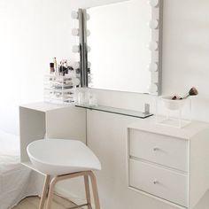 Dressing table inspo   regram from the lovely page of @nanna_shyama   #dressingtableinspo #dressingtable #makeup #makeupstation #makeuptable #vanity #vanitytable #ikea #white #whitehome #whiteonwhite #scandidecor #interior #interior123 #interiordesign