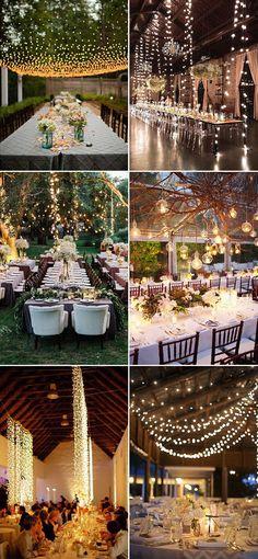 Stunning wedding reception lighting decoration ideas