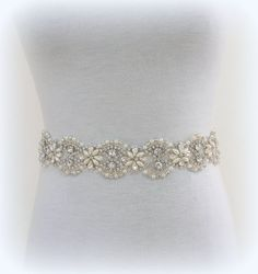 Bridal or special occasion SASHbeadsrhinestonespearls by daniel12, $72.00