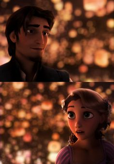 I have to comment on what an AMAZING job Disney did with the lighting on the lantern scene in Tangled. Absolutely incredible.