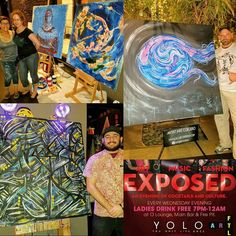 "Photo Recap of an incredible 3rd night as part of our ""YOLO Live"" Pop-up Series @yolorestaurant featuring some of our local Artists. BIG Thank you to the artists for coming out and Blessing us with some amazing work and Big Thanks to everyone else that came out to enjoy! We Genuinely Appreciate all of the love and support we've been receiving from the community!  If you didn't know the backstory behind this event The pieces included in this pop-up series of events will be on display in an…"