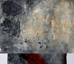 """Listening to the Silence, monotype 14""""x16"""" by Anne Moore"""