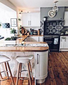 Top Bohemian Style Kitchen Design Ideas 17 — Home Design Ideas Home Kitchens, Kitchen Remodel, Sweet Home, Kitchen Decor, Kitchen Interior, Interior Design Kitchen, Home Decor, Kitchen Style, House Interior
