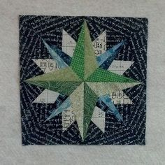 I really like this mariner's compass block - I don't usually see ones done with…