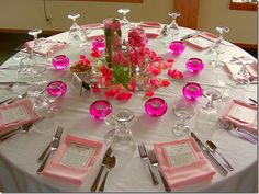 the different pinks are good for creating a variety of shades and gives the table a pop! - http://chicmeetshealthy.blogspot.hu/2011/04/guest-blogger-cait-fit-fierce-fabulous.html