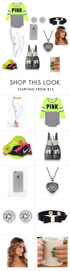 """""""Untitled #98"""" by closandmoreclose on Polyvore featuring Boohoo, NIKE, T-shirt & Jeans, LA: Hearts, Michael Kors, Salvatore Ferragamo and Lulu*s"""
