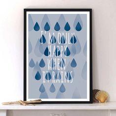 autumn in DaWanda Digital Print 'Rain' from Pili Chepper Prints&Paper by DaWanda.com