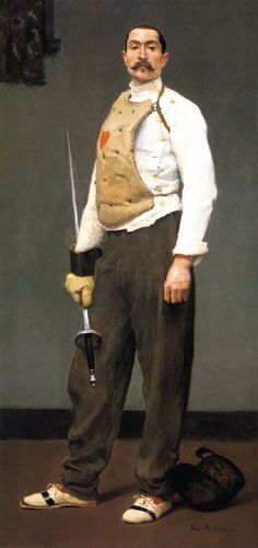 The Fencing Master, oil on canvas,Gari Melchers (American), Detroit Institute of…