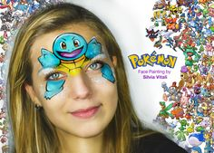 POKEMON Face Painitng by Silvia Vitali http://www.facepainting.academy/
