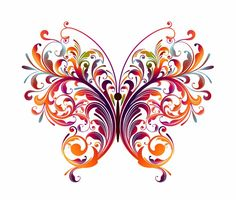 Abstract Designs To Draw | Abstract Floral Butterfly Vector Graphic | Free Vector Graphics | All ...