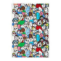 "GULLVI fabric, multicolor Width: 59 "" Pattern repeat: 36 "" Width: 150 cm Pattern repeat: 92 cm"