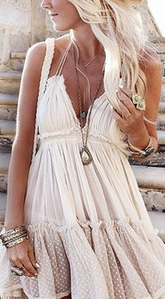 Apricot Patchwork Lace Condole Belt Backless Mini Dress - Mini Dresses - Dresses