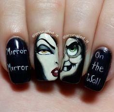 AMAZING!! Snow White's Evil Queen nail art https://noahxnw.tumblr.com/post/160809104401/hairstyle-ideas