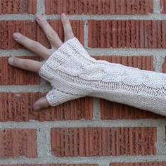 Free Knitting Pattern - Adult Gloves & Mittens: Mikado Ribbon Fingerless Gloves