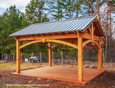 When REI, Cafe Rio, & Classy Homeowners are looking for a retreat for their customers or themselves they turn to a Western Timber Frame Pergola or Pavilion Kit Backyard Pavilion, Outdoor Pavilion, Backyard Retreat, Outdoor Pergola, Pergola Plans, Outdoor Rooms, Backyard Patio, Backyard Landscaping, Outdoor Living