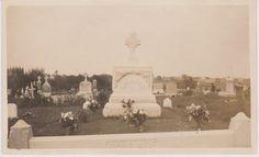 The Wallace Cemetery Plot  Vintage Snapshot by FunerealEphemera