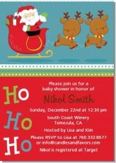 Santa And His Reindeer - Baby Shower Invitations   Super cute theme for a baby shower around the time of christmas