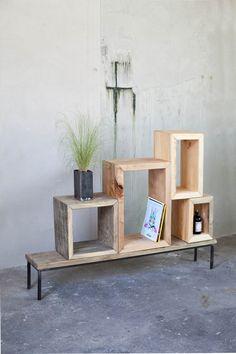 Stylisches Sideboard aus Holzkisten, Minimalismus / minimalist sideboard made by woodboom bei DaWanda