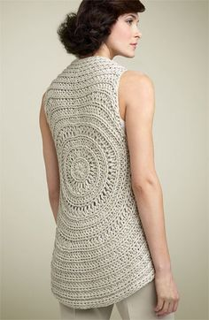 Theory 'Elodie - Cima' Crochet Sweater Vest | I would love the pattern for this vest.