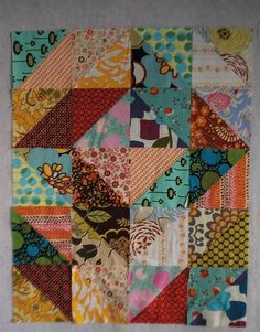 Refine your eye for color value in quilts with this simple to follow beginner quilt tutorial using half square triangles.
