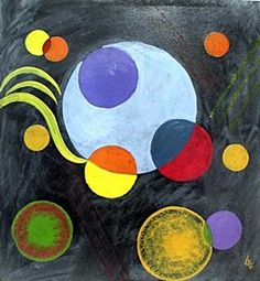 Circles - Oil Painting On Paper - Wassily Kandinsky