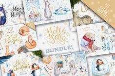 60%off Watercolour Christmas Illustration BUNDLE! A fantastic set of high quality hand painted watercolour Christmas elements. Perfect graphic for DIY, wedding invitations, greeting cards, quotes, blogs, posters, typography and more.