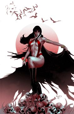 Here's my attempt to do a 70's classic Vampirella cover. I wanted to give it a vintage look. Not sure I made it, but it was a fun. VAMPIRELLA #11 Written by Eric Trautmann, Brandon Jerwa, art by Jo...