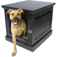 Multiple coats of pet safe finish and sealer to protect the wood Antique Brass Hardware Door insert grate can be removed to allow pets to come and go freely. Choose one of 4 sizes 1 year warranty Snap together assembly Certified Non-toxic finish