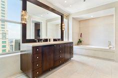 Full-Floor Nate Berkus-Designed Unit at Palmolive Building Lists for $7.2M - Curbed Chicago bathroom