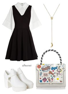 I.M by fleurxxii on Polyvore featuring mode, Morgan, Kenzo, Monki, Anya Hindmarch and Pamela Love