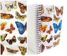 Butterflies  Spiral Notebook  Plain Pocket 4 x 6 by Ciaffi on Etsy, $12.50
