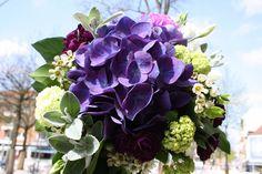 Blumenstrauß mit blauer Hortensie, Blumenstrauß der Straussbar in Hamburg, Eimsbüttel, Foto Birgit Puck
