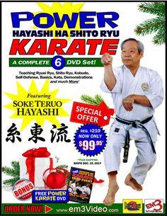 Power Karate Hayashi Ha Shito Ryu Kobudo - 6 DVD Set + FREE DVD (7 DVDs)