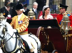 Prince William, Duke of Cambridge, and Catherine, Duchess of Cambridge, on their wedding day