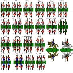 recortables de figuras o soldados de papel