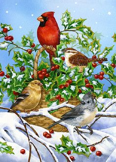 Holly and Birds Jane Maday