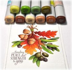Peace and Strength: Olive and Oak: #PowerPoppy stamps and #CopicMarkers. Stepped out coloring pictures are here: http://debbiedesigns.typepad.com/muse_and_amuse/2015/09/peace-and-strength-olive-and-oak.html