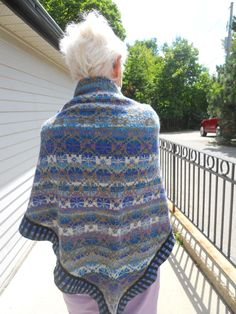 A Really Good Yarn: Cornflower Shawl