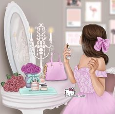 Discovered by princess Rose. Find images and videos about girly on We Heart It - the app to get lost in what you love. Best Friend Drawings, Girly Drawings, Cute Cartoon Girl, Cartoon Art, Sarra Art, Girly M, Cute Girl Drawing, Cute Girl Wallpaper, Digital Art Girl