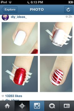 A cute Christmas idea for your nails!