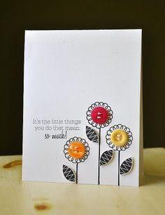 Carte à fleurs...en bouton