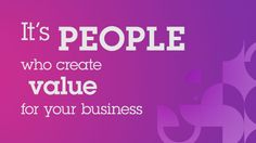 People create value for business #social