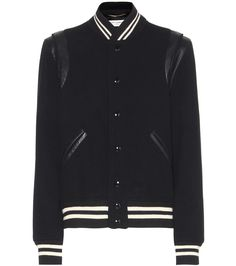Saint Laurent - Pre-Fall 16 - Collegejacke Wolle Lammleder im Stil der Teddy Boys