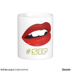 Red lips mug