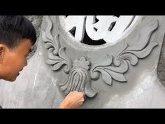 How To Construction a Flower From The Sand And Cement Cement Art, Concrete Projects, Building A House, Construction, Amazing, Flowers, Window, Technology, Decoration