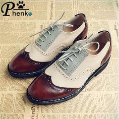 100% Genuine leather flat shoe US size 10 hand made chaussure homme brown beige gray color zapatos de cuero de hombre oxford
