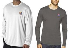 Old Style Beer Chicago Bears or Cubs Color Logo'd UltraClub Men Long Sleeve Tee #UltraClub #BasicTee