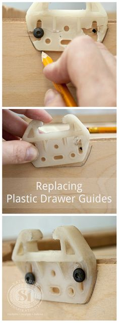 Replacing Plastic Drawer Guides A Really Easy Way To Position Perfectly Every Time