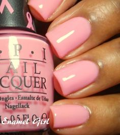 OPI - I Think in Pink - A sheer and happy bubble-gum pink. For a more opaque look, use 4 coats. You can achieve a sheer look with 2-3.
