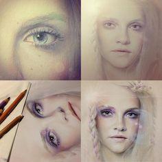 Incredible Bec Winnel Drawings. #drawing #art #portrait